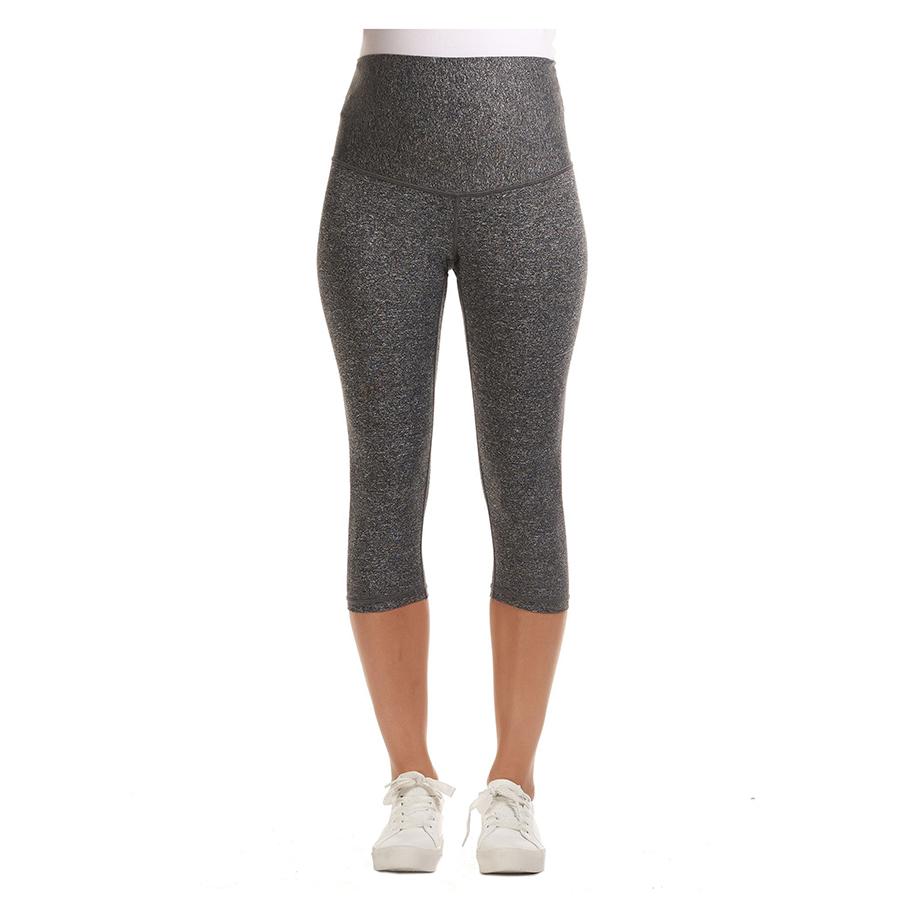 Mums & Bumps Soon Sage 3/4 Overbelly Active Maternity legging Black