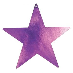 Amscan Star Foil Cutout 5 Purple