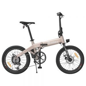 HIMO Z20 Folding Electric Bicycle 20 Inch Tire 250W DC Motor Up To 80km Range  Removable Battery Shimano 6-speed Transmission Smart Display Dual Disc Brake CN Version - Rose Gold