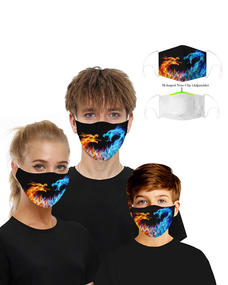 Face Print Breathable Mouth M .a. s. k Washable And Reusable