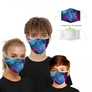 Print Mouth M .a. s. k Breathable Washable And Reusable With 2PCS Replaceable Filter