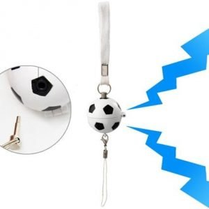 Pull Trigger Football Shaped Mini Flashing Alarm - White