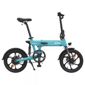 HIMO Z16 Folding Electric Bicycle 250W Motor Up To 80km Range Max Speed 25km/h Removable Battery IPX7 Waterproof Smart Display Dual Disc Brake CN Version - Blue