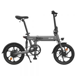 HIMO Z16 Folding Electric Bicycle 250W Motor Up To 80km Range Max Speed 25km/h Removable Battery IPX7 Waterproof Smart Display Dual Disc Brake CN Version - Gray