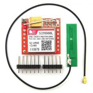 SIM800L Quad-band Network GPRS GSM Breakout Module + 3G 3DBI PCB Antenna with IPEX interface