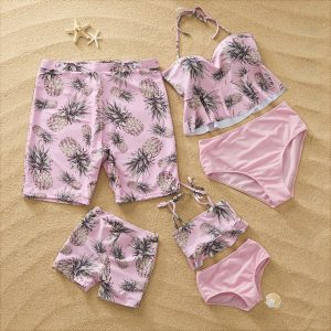 Pineapple Summer Swimsuit for Family