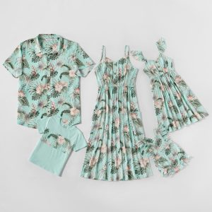 Mosaic Family Matching Floral Tank Dresses - Shirts - Rompers
