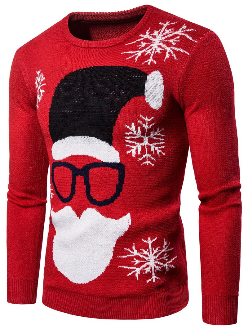 Christmas Santa Claus Pattern Sweater