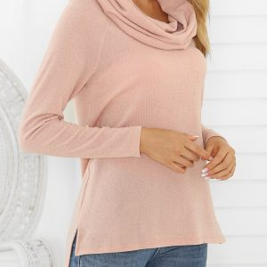 Multiway Raglan Sleeve High Low Slit Knitwear