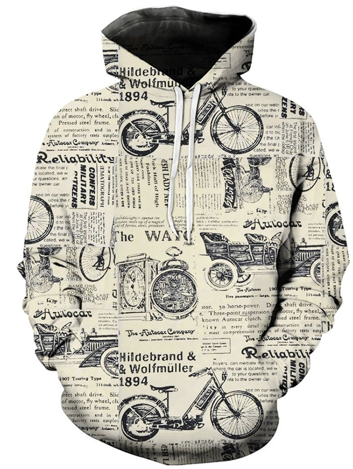 Graphic Letter Printed Hoodie